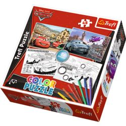 Puzzle Color 2x48 Auta 2 TREFL