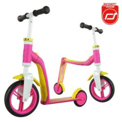 SCOOTANDRIDE Highwaybaby 2w1 PINK/YELLOW