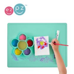Mata silikonowa do zabawy 2w1 Flower Play Mat